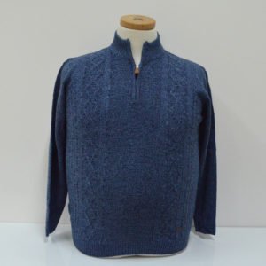 Maglia Ascot zip - Azzurro