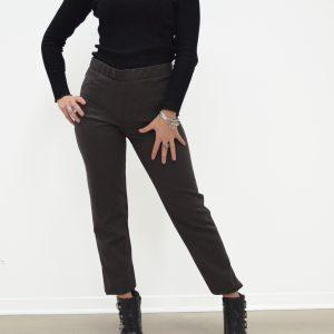Pantalone Carla Ferroni poliviscosa - Marrone