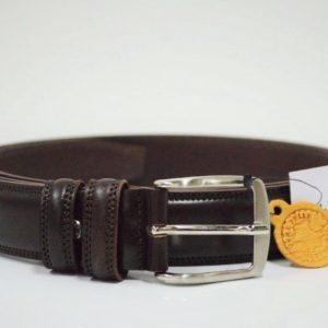 Cintura in pelle Oversize - Moro