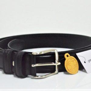 Cintura in pelle Oversize - Nera