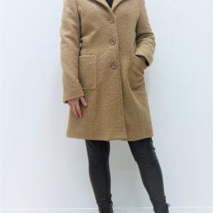 Cappotto Graffio effetto lana - Cammello