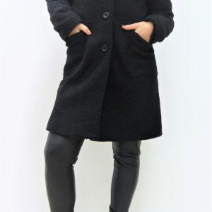 Cappotto effetto lana Graffio - Nero