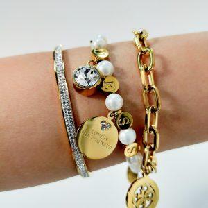 Bracciale Guess Perle - Color oro