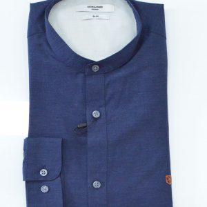 Camicia Manica lunga Slim - Blu e Azzurra